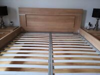 Superking size bed frame with matching side units