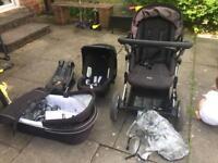 BRITAX b smart pushchair, bassinet, car seat and isofix