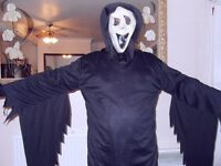 ADULT COSTUME/SCREAM MASK (DRESSING UP) SIZE M-L