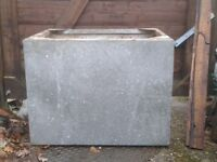 GALVANIZED GALVANISED WATER TANK PLANTER TROUGH GARDEN