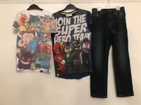 Boys 9-10 Years Next Joblot Pokemon, Jeans, Lego Flash,Green Lantern ,Superman