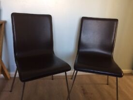 Fau leather dining chairs.
