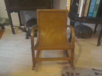 Beautiful Vintage Bentwood child's Rocking chair