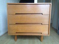 "Original designer Vintage Stag ""C"" range chest of 3 drawers mid 20th century"