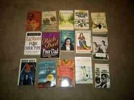 Selection of fiction books