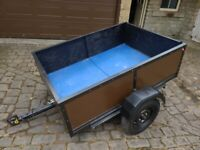 Trailer 6ft x 4ft 4inches x 18inches deep approx. Good working condition.