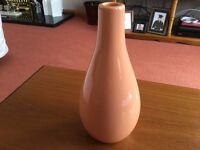 Pretty, Elegant, Peach Coloured Vase