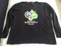 FIFA 2006 World Cup Germany Football T Shirt Long Sleeves - Black - Size L
