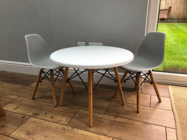 Terrific Childrens Table And 2 Chairs Eames Style In Portsmouth Hampshire Gumtree Bralicious Painted Fabric Chair Ideas Braliciousco