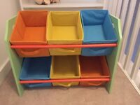 Bebe Style Children's Sized Unit with 6 Storage Boxes - good condition