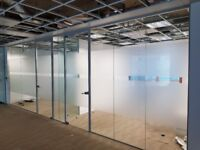 Over 30 x USED Toughened Glass Partitions Available in Hammersmith