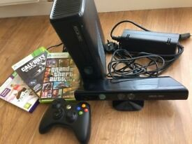 Xbox 360 + One controller + Kinect + 3 games