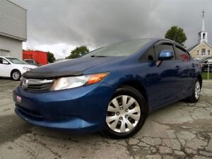 2012 Honda Civic LX + AUCUN ACCIDENT + DÉFLECTEURS + A/C!!!