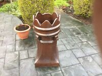 Crown chimney pots brown glaze