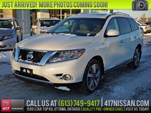 2015 Nissan Pathfinder Platinum | Navi, Sunroof, Leather Htd Sea