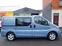 Finance Me.. 2012 Renault Trafic swb sportive 5 seat factory fitted crew van Vauxhall vivaro (25)