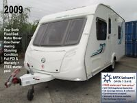 2009 SWIFT MERLIN S53 - 4 BERTH – FIXED BED – ONE OWNER - MOTOR MOVER – AWNING - WARRANTY - CRIS REG