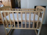 Wooden next to me crib brand new mattress bedside cot Newborn cot moses basket