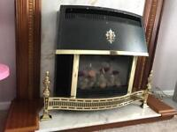 Gas Fireplace heater with surround