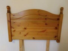 Solid wood single bad headboard!!