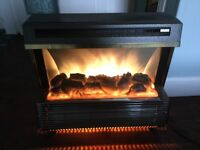 70s style two bar electric fire