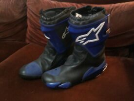 Alpinestars Supertech boots with inner protective boot for motorbike Size 44euro Very good condition