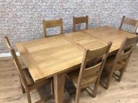 1.8m extending oak dining table