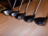 Ladies Calloway, GREAT BIG BERTHA II , 1,3,5,7 & 9 fairway wood's.