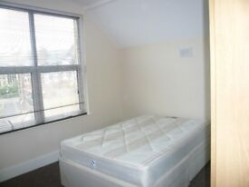 Double room, in Muswell Hill, for one, sharing modern bathroom and large kitchen washing machine.