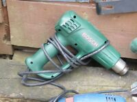 Drill, sander and paint stripper (heat gun)