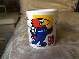 France 98 World Cup Mug - Rare Official Vintage Football Memorabilia