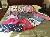 Girls clothing bundle age 3-4 and 4-5 mix of 19 items