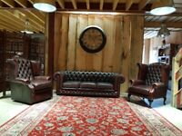 Chesterfield Leather 3+1+1 Suite (Ox-Blood)
