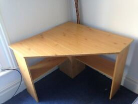 Corner Desk in Pine colour, Solid with all fixing's (REDUCED)