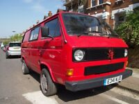 T25 Red Camper Van: The Lobster