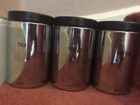 Genuine Brabantia kitchen storage canisters
