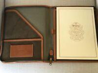 Vintage Leather A4 size zipped folder by The Regent Belt Company