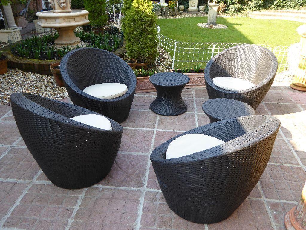 Garden Furniture Rattan Egg Lounge Set