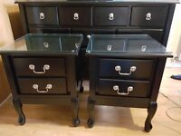Chest of drawers & 2 bedside tables £250 ONO