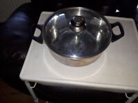 Stainless steel pan/glass lid