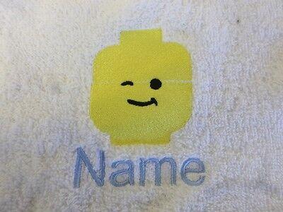 Lego und Personalisierte Name Bestickt auf Handtücher Bademäntel Kapuzen