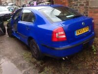 Skoda Octivia 1.9i Tdi 2006 Rear Complete Bumper Breaking Car