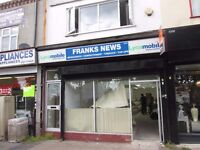 *LOCK UP SHOP TO LET**YARDLEY**PREVIOUSLY USED AS A NEWSAGENT**EXCELLENT LOCATION**CALL NOW**