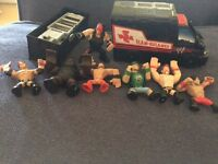 WWE rumbler mini figures