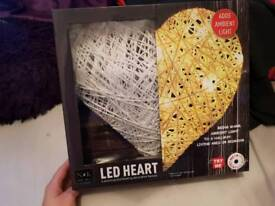 led light heart