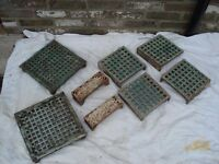 SELECTION OF ORIGINAL VICTORIAN CAST IRON AIR VENT GRILLE BRICKS