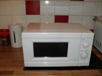 microwave white ,new never used,bargain at £20