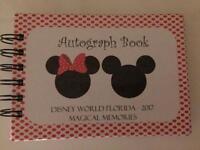 Autograph Book Disney World Orlando 2017