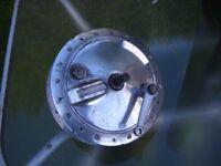 """Royal Enfield 7"""" full width aluminium front wheel hub,"""