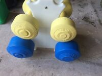 Set of 4 dumbbells